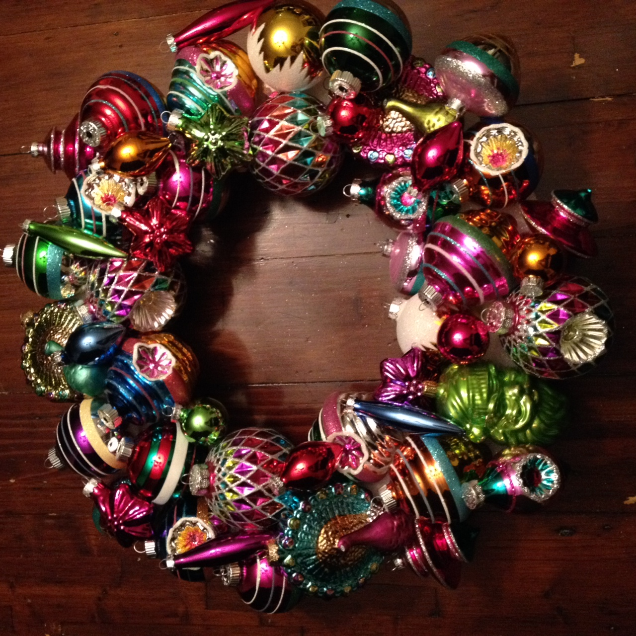 A Holiday Wreath From Christmases Past