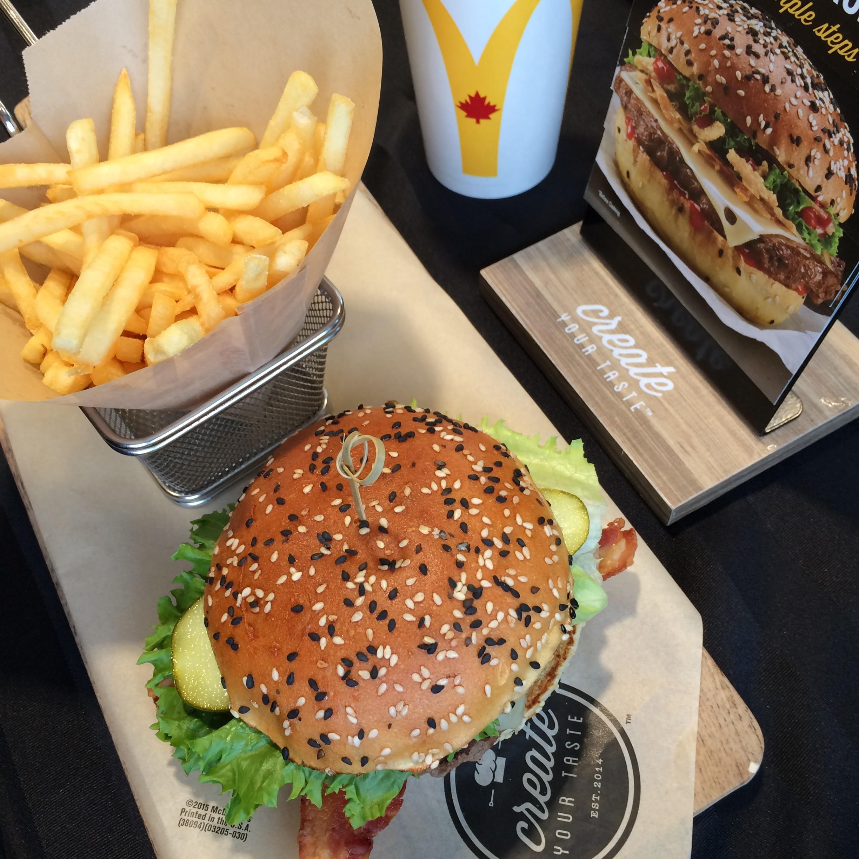 mcdonald s new create your taste menu